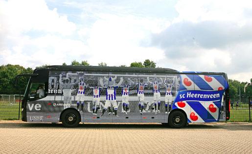 Spelersbus Heerenveen