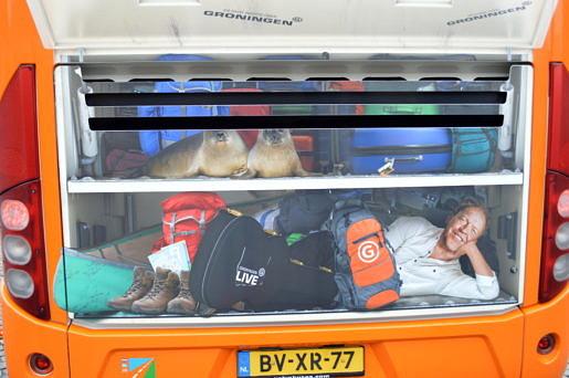 Achterzijde bus