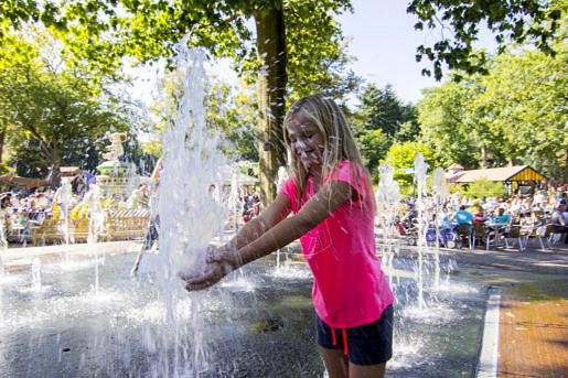 Waterpret bij het waterplein in Drouwenerzand