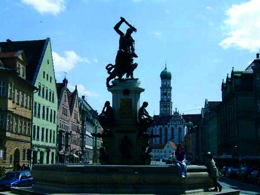 Centrum van Augsburg