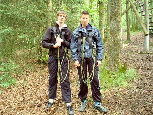 Leerlingen in de Ardennen
