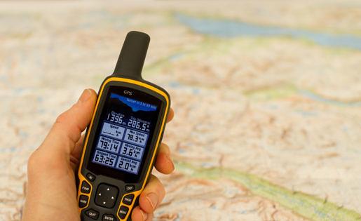 Gps tracker met landkaart