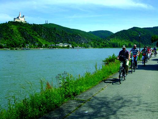 Fietsen langs de Rijn