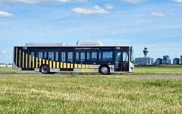 BYD Bus op het platform Schiphol