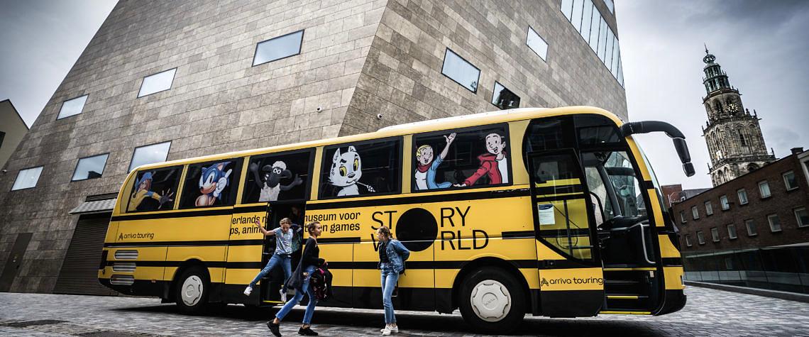 Story world bus - schoolkinderen